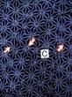 Photo14: K0526B Used Japanese   Indigo Blue YUKATA summer(made in Japan) / Cotton. Hemp leaf Arimatsu-Shibori, made in 1980-1990  (Grade D) (14)