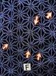 Photo17: K0526B Used Japanese   Indigo Blue YUKATA summer(made in Japan) / Cotton. Hemp leaf Arimatsu-Shibori, made in 1980-1990  (Grade D) (17)