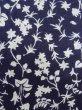 Photo5: K0527A Used Japanese   Indigo Blue YUKATA summer(made in Japan) / Cotton. Flower, made in 1970-1980  (Grade C) (5)