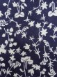 Photo6: K0527A Used Japanese   Indigo Blue YUKATA summer(made in Japan) / Cotton. Flower, made in 1970-1980  (Grade C) (6)