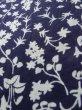Photo8: K0527A Used Japanese   Indigo Blue YUKATA summer(made in Japan) / Cotton. Flower, made in 1970-1980  (Grade C) (8)