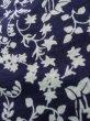 Photo10: K0527A Used Japanese   Indigo Blue YUKATA summer(made in Japan) / Cotton. Flower, made in 1970-1980  (Grade C) (10)