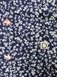Photo17: K0527A Used Japanese   Indigo Blue YUKATA summer(made in Japan) / Cotton. Flower, made in 1970-1980  (Grade C) (17)