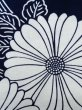 Photo6: K0527B Used Japanese   Indigo Blue YUKATA summer(made in Japan) / Cotton. Flower, made in 1970-1980  (Grade C) (6)