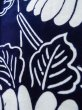 Photo11: K0527B Used Japanese   Indigo Blue YUKATA summer(made in Japan) / Cotton. Flower, made in 1970-1980  (Grade C) (11)