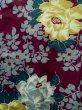 Photo5: K0712K Used Japanese   Purple HAORI short jacket / Silk. Peony,   (Grade B) (5)