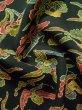 Photo12: K0728D Used Japanese Dark  Green KOMON dyed / Silk. Iris,   (Grade B) (12)