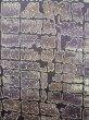 Photo8: Mint K0728E Used Japanese   Purple KOMON dyed / Synthetic. Quadrangle,   (Grade A) (8)