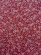 Photo5: Mint K0728S Used Japanese Reddish  Purple KOMON dyed / Silk. Flower,   (Grade A) (5)