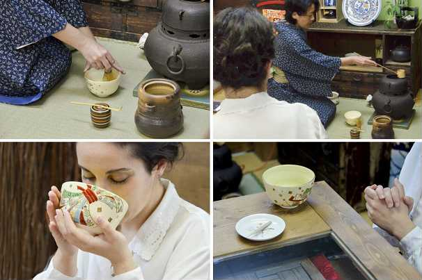 matcha green tea ceremony