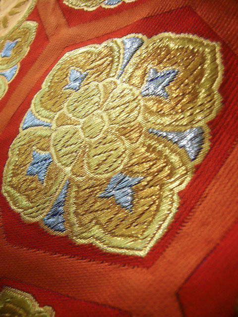 No.296 Japanese vintage kimono obi silk Japan/'s traditional wonderful textile technology
