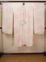 Photo: Mint H1117C Used Japanese   Off White JUBAN undergarment / Silk. Gradation  (Grade A)