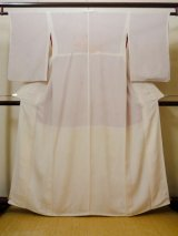 Photo: I0207L Used Japanese  Smoky Off White JUBAN undergarment / Silk.   (Grade C)