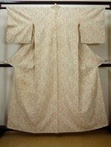 Photo: I0525P Used Japanese  Creamy Beige HITOE unlined / Silk. Butterfly  (Grade C)
