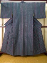 Photo: Mint J1014H Used Japanese Dark  Green HITOE unlined / Synthetic. Stripes   (Grade A)