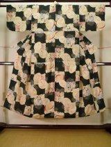 Photo: J1104I Used Japanese   Black Kids / Silk. Flower,   (Grade D)